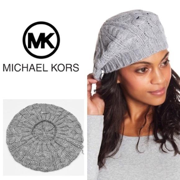6bc806dae1e1b Michael Michael Kors Pointelle Cable-Knit Beret